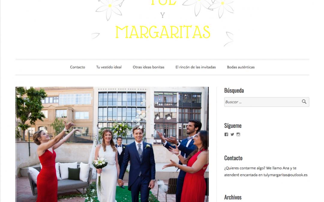 Entre Tul y Margaritas nos publica nuestro editorial